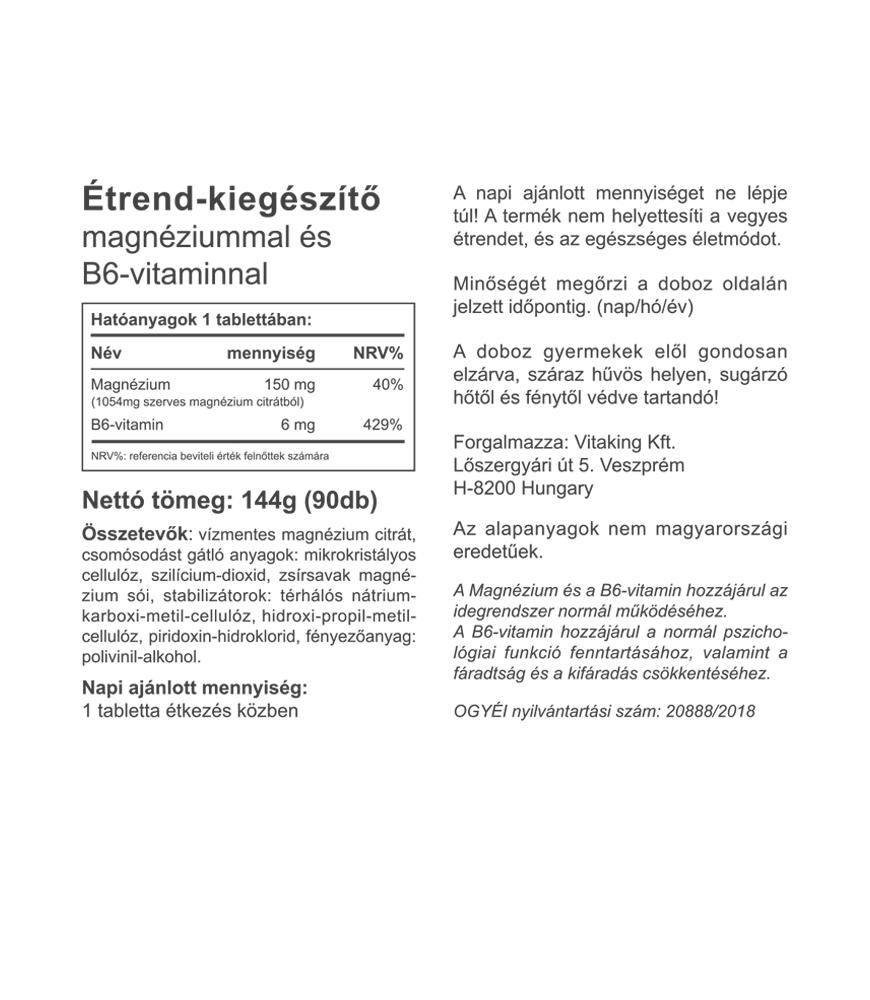 Vitaking magnézium citrát - organikus magnézium