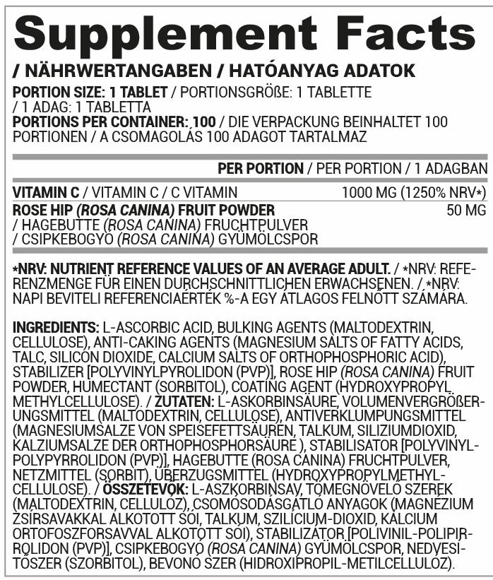Nutriversum C-vitamin tabletta, csipkebogyóval