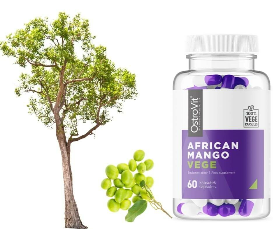 Afriaki mango kivonatot tartalmazó étrend-kiegészítő kapszula (vegán)