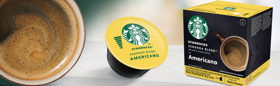 Starbucks Americano Dolce Gusto kávékapszula